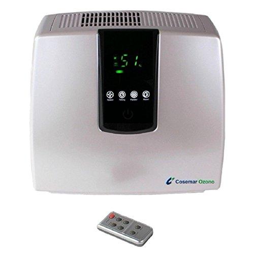 Purificador de aire doméstico digital, ionizador de aire, filtro de carbón activo, filtro HEPA para personas alérgicas, asmáticas, tamaño de habitación recomendada 30 m², elimina malos olores