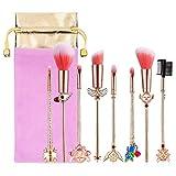 Juego de brochas de maquillaje, Sailor Moon Brochas de Maquillaje Cerezo Blossom Sets/Brochas de Maquillaje Regalos Mujer