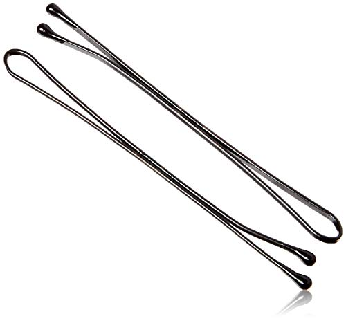 Kleravitex 2.75' Jumbo Bobby Hair Pins - Black Tipped Flat Style Pins for Women - Perfect For Rollers - Hair Pins for Wedding & Party Styling - Suitable for ALL Hair Types, 100 pieces Tub Made in USA