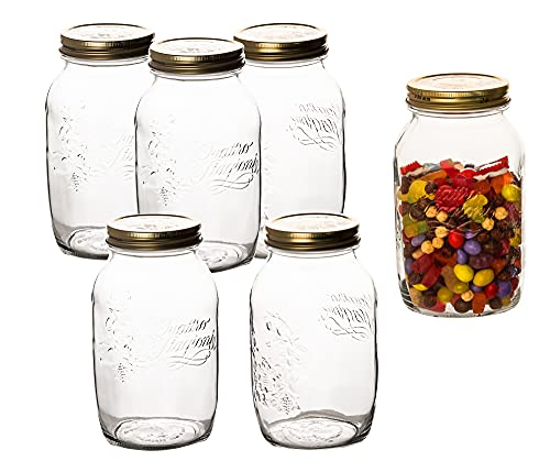 6 Stk. Quattro Stagioni 1,50 Liter Einmachglas Vorratsglas von Bormioli