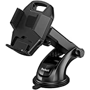 Car Phone Holder, Beikell Adjustable Car Phone Mount Cradle 360° Rotation - Phone Holder for Car with One Button Release and Strong Sticky Gel Pad for Mobile Phones from 4.7 to 6.5 inches