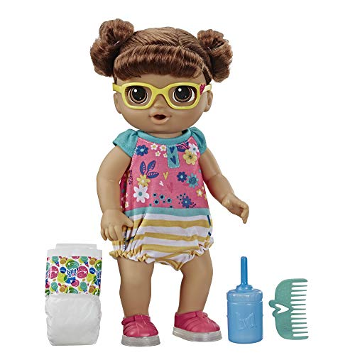 Baby Alive Step 'N Giggle Baby Brown Hair Doll with Light-Up...