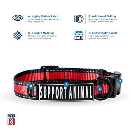 S.A. Shop Emotional Support Animal Collar (Medium Neck: 14-20')