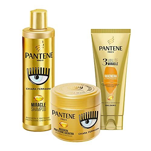 Pantene Pro-V by CHIARA FERRAGNI Balsamo 3 Minute Miracle, Rigenera&Protegge, 150 ml + Maschera Rigenera e...