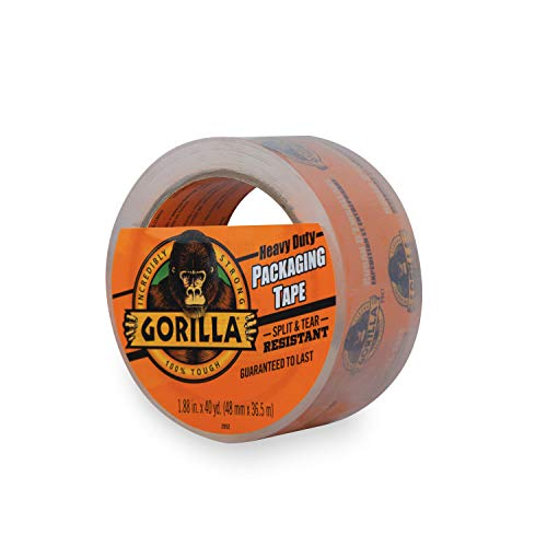 Gorilla Heavy Duty Large Core Packing Tape for Moving, Shipping and Storage, 1.88' x 40 yd, Clear, (Pack of 1)