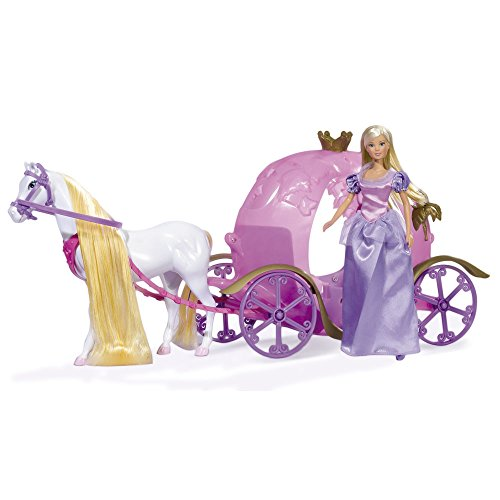 Steffie Love - Pumpkin Carriage, muñeca con carroza (Simba 5733974)