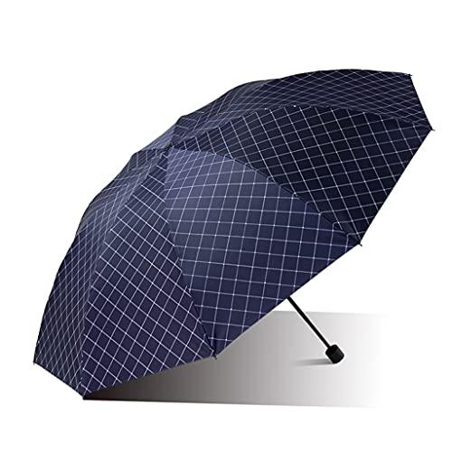 SFF Ombrelli Uomo di Grande Ombrellone Antivento Uomo Business Ombrello Pieghevole Pioggia E Ombrellone da Pioggia Asciugatura Rapida Facile da Trasportare Parasole (Color : B)