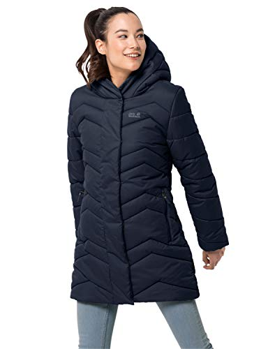 Jack Wolfskin Damen KYOTO COAT W winddichter Wintermantel, midnight blue, S