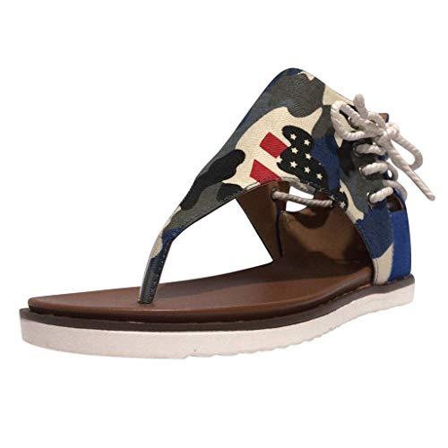 Zoccoli Infradito Clogs Ciabatte Sandali Sandal Sandali Ciabatte Scarpe da Bagno Pantofole (35,3Blu)
