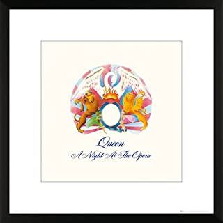 O Queen a Night at The Opera Album Cover Classic Rock Music Print 3594 (16x16 Framed Poster)