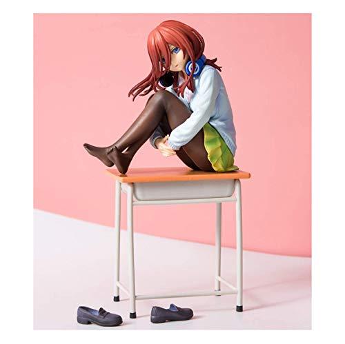 JOA Anime Model Figuren Statue,19cm Die Quintessenz Der Quintuplets Miku Nakano,Anime Figuren Action Model Collection Spielzeug Geschenk Charakteren