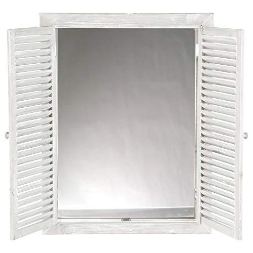 Atmosphera Specchio Decorativo con Cornice a Forma di Finestra, Bianco