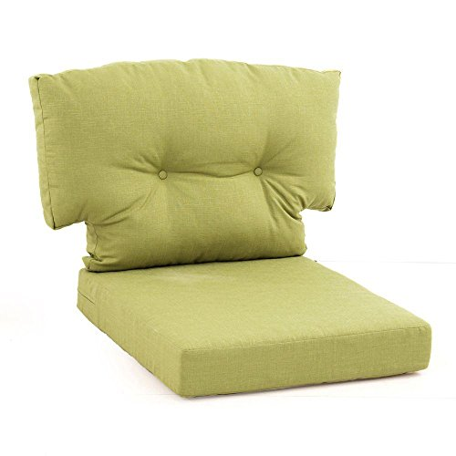 Martha Stewart Living Charlottetown Green Bean Replacement 2-Piece Outdoor Lounge Chair Cushion