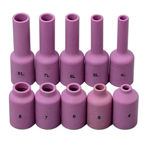 TIG Alumine Gaz Lens Buse 54N18 54N17 54N16 54N15 54N14 Kit Fit SR DTA DB WP 17 18 26 Torche de Soudage Tig 5pcs