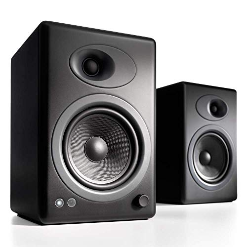 Audioengine A5 Plus Classic 150W Powered Bookshelf Speakers with Remote Control, Built In Analog...