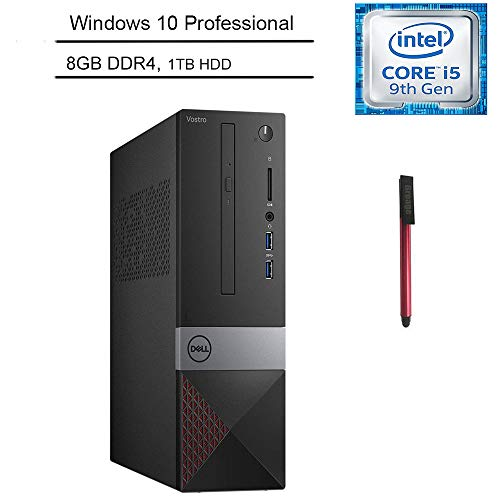 Dell Vostro 3000 Business Small Desktop Computer, 9th Gen Intel Hexa-Core i5-9400 up to 4.1GHz, 8GB DDR4 RAM, 1TB HDD, DVDRW, HDMI, Windows 10 Professional, BROAGE 64GB Flash Drive