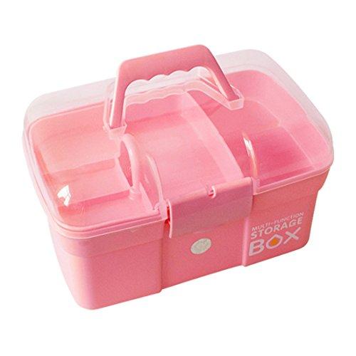 Batop Medizinbox Abschließbar mit Fächern - Tragbar Medizinkoffer Aufbewahrungsbox mit Griff für Medikamente Organizer Hausapotheke