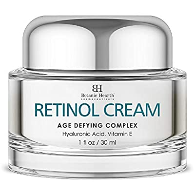 Botanic Hearth Retinol Cream for Face - Age Aging Cream Complex with Hyaluronic Acid & Vitamin E, Reduces the Appearance of Wrinkles - Day & Night Facial Moisturizer - 1 fl oz