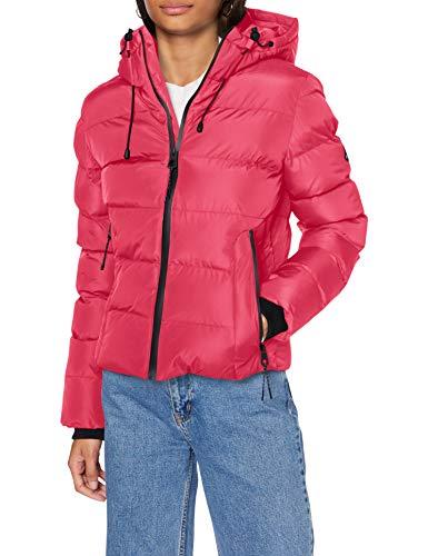 Superdry Womens Spirit Sports Puffer Jacket, Pink, L (Herstellergröße:14)