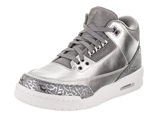 Jordan Damen Nike Air 3 Retro Prem HC Metallic/Silber/Kühlen/Grau Basketball-Schuh 5.5 US 3.5 UK Metallic Silber/Grau