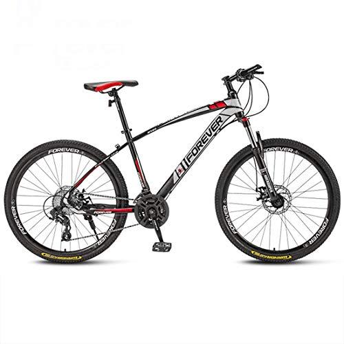 CPY-EX 27,5 Pulgadas Frenos Ruedas de Bicicletas de montaña Daul Disco 21/24/27/30 Velocidad Frente para Hombre de la Bicicleta MTB Suspension (Blanco, Rojo, Azul, Negro),Rojo,27