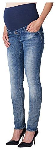 ESPRIT Maternity Damen Slim Umstands Jeans OTB, Gr. 42 (Herstellergröße: 42/32), Blau (Lightwash 950)
