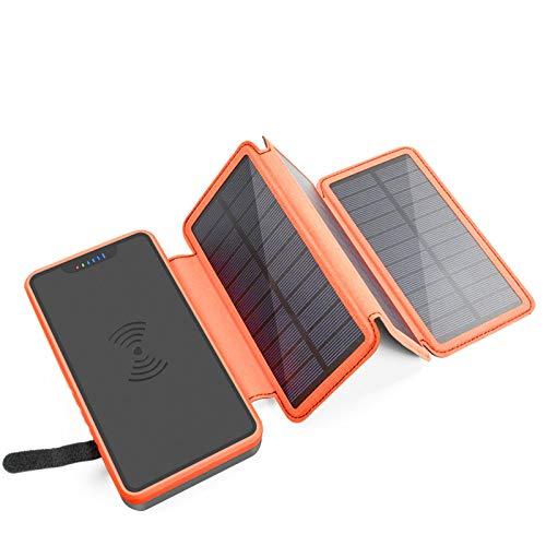 HGYJ Cargador De TeléFono Celular Solar 20000mah, Adecuado Todos Los TeléFonos Celulares Y Tabletas. Cargador MóVil Solar Impermeable, A Prueba De Polvo Decuado para Exteriores,Yellow
