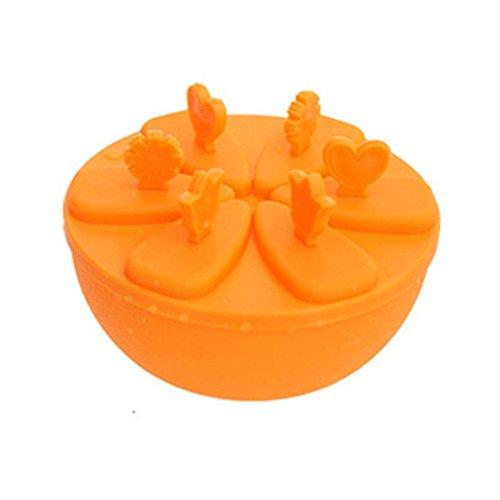 Kenmont Stieleisformer Eisformen Eislutscher Formen Set (Orange Color)