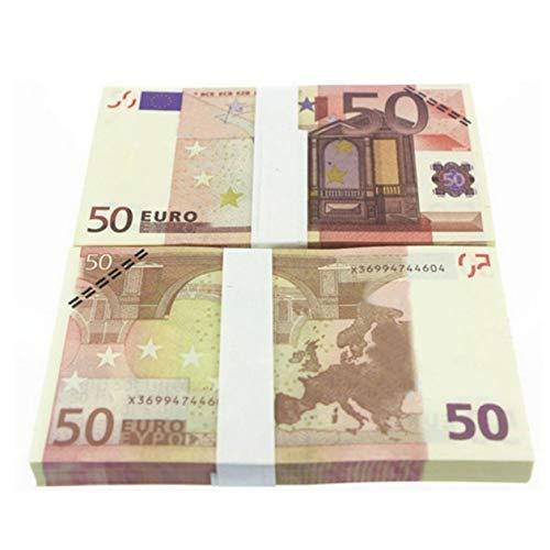 BIYI 5 10 20 50 100 200 500 EUR Gold-Banknoten in 24 Karat Gold-Falschgeld für die Sammlung Euro-Banknoten-Sets (bunt)