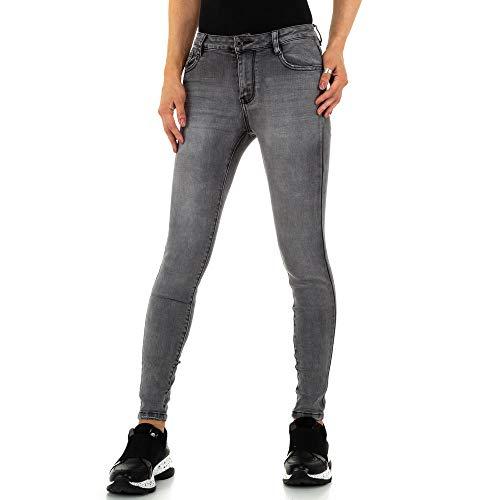 Ital Design Damen Low Skinny Jeans Laulia Gr. S/36 Grau