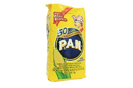 Pan Harina de Maíz Blanco 1 Paquete de 1 kg 1000 g