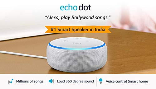Echo Dot (3rd Gen) – New and improved smart speaker with Alexa (White)