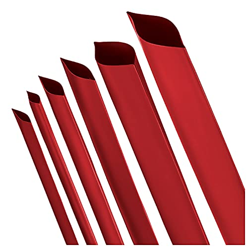 Schrumpfschlauch 2:1 rot Auswahl aus 10 Durchmessern und 6 Längen von ISOLATECH (hier: Ø8mm - 1 Meter)