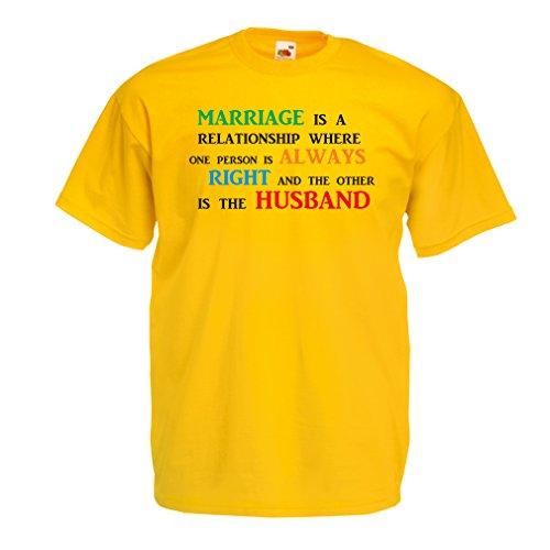 lepni.me Camiseta para Hombre Día De la Boda Despedida de Soltera o Regalo Divertido de Aniversario (Medium Amarillo Multicolor)