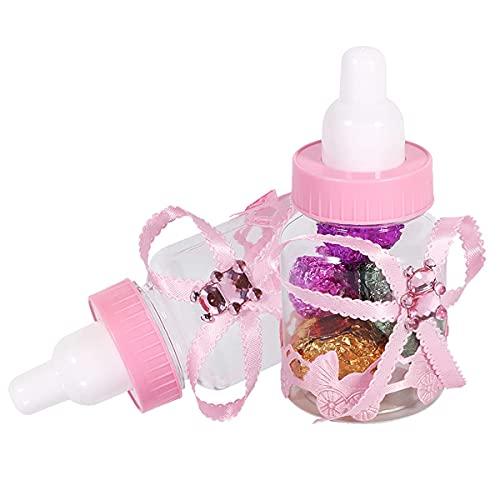 Winnfy 12 Unidades de Botella de Caramelo para Baby Shower Caja de Regalo Caja de Bombones Caja de Bombones Decoraciones
