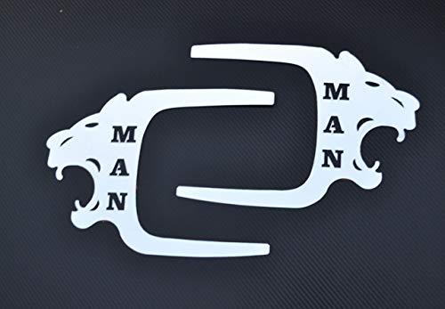 Lkw-Türverkleidungs-Dekorationen, Löwen, 2 Stück, polierter Edelstahl
