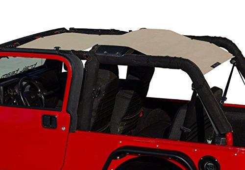 ALIEN SUNSHADE Jeep Wrangler LJ Unlimited (2004-2006) Full Length Sun Shade Mesh Top Cover (Sand) – 10 Year Warranty - Blocks UV, Wind, Noise