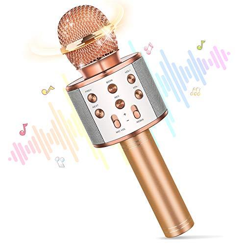 DEVRNEZ Kids Microphone, 3-12 Year Old Girls Gifts Bluetooth Wireless...