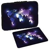 Pedea Design Schutzhülle Notebook Tasche bis 15,6 Zoll (39,6cm) mit Design Mauspad, Dark World