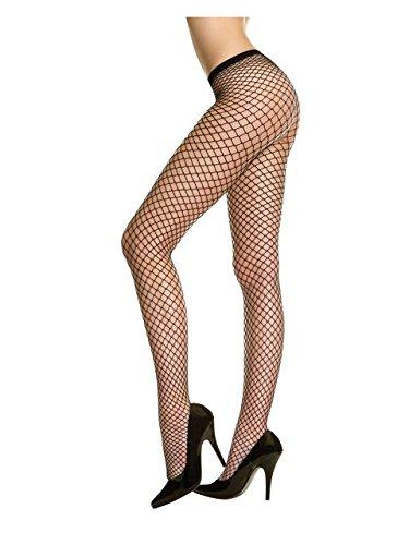 Rubie's Medias de malla negra para disfraz de Halloween