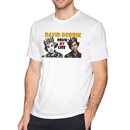 David Dobrik Mens T Shirts Cotton Short Sleeve Shirts for Men,Tee Shirt Tops
