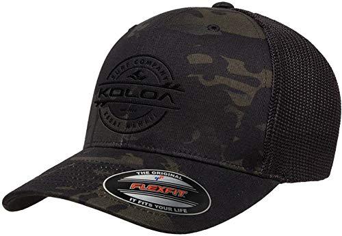 Koloa Surf-Premium Embroidered 34e Flexfit 6511 Truckers Caps Camo/b