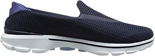 Skechers Go Walk 3, Damen Sneaker, Blau - Marinebau weiß - Größe: 37 EU