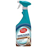 Hard floors Stain and Odour Remover works ideal on sealed hardwood floors, sealed stone floors, linoleum, vinyl, brick, concrete, marble, and ceramic tile Simple Solution Hard floor Stain & Odour Remover eliminates pet stain and odours on hard-to-cle...
