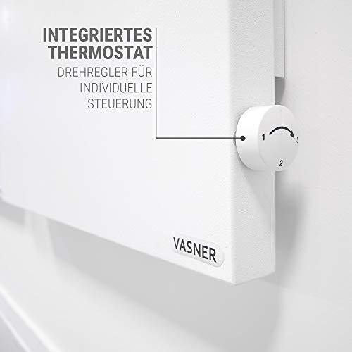 VASNER Konvi VE Hybrid Infrarotheizung mit Thermostat vertikal 1000 Watt Elektroheizung Bild 3*