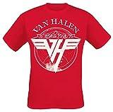 Photo de Van Halen 1979 Tour Homme T-Shirt Manches Courtes Rouge S, 100% Coton, Regular/Coupe Standard