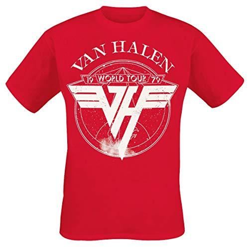 Van Halen 1979 Tour Männer T-Shirt rot XXL 100{74de95f59dc970c948afed3ca748647100e5a681e00924f73cfb4f392d781a3d} Baumwolle Band-Merch, Bands
