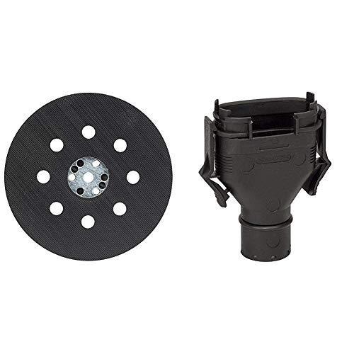 Bosch Professional Pro Schleifteller (für Exzenterschleifer PEX 12 PEX 12 A und PEX 125, SchleiftellerØ 125 mm) & Professional Adapter für Staubbeutel für Exzenter-, Schwing- und Multischleifer