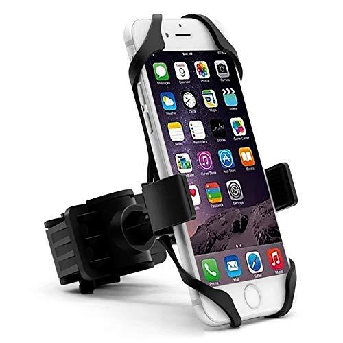 Fahrrad-Telefon-Halter, Halterung Halter-Telefon-Halter mit Silikon-Stützband, for iPhone X Xs Max 8 7 Plus-Samsung (Color : Black)