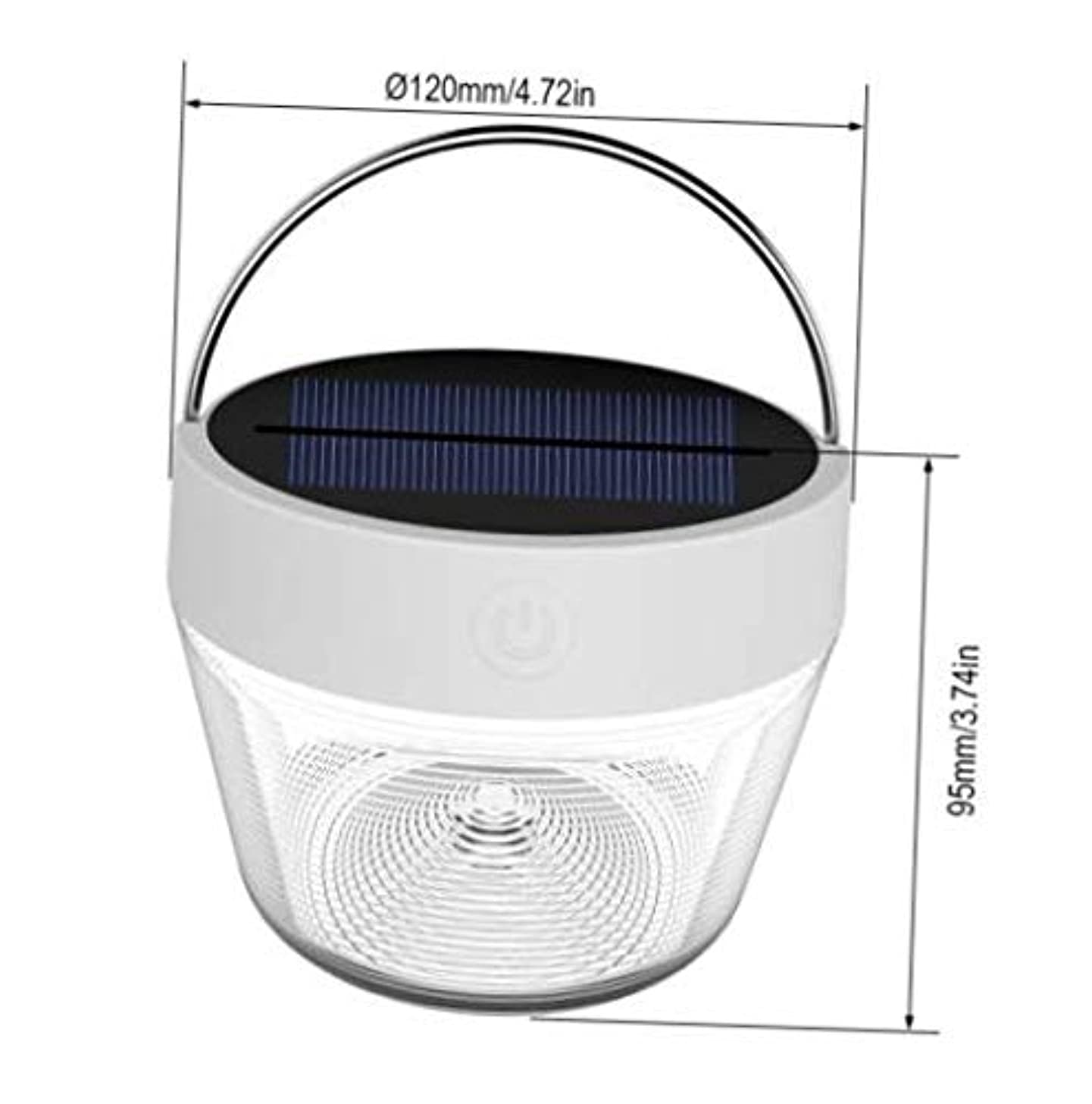 LED Light Dimmable Night Light Warm White RGB Color Solar Powered Camping Lanterns Lamp